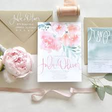 best 25 watercolor wedding invitations ideas on gold