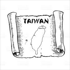 Map Of Taiwan Scroll With A Map Of Taiwan Stock Vector Art 800324126 Istock