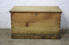 vintage antique pine wooden chest trunk blanket box ebay