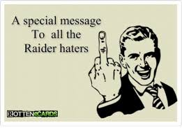Raider Hater Memes - a special message to all the raider haters ottenecards meme on me me