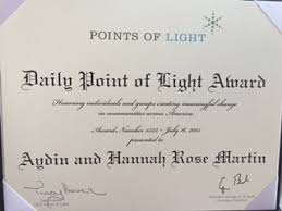 point of light award awards and recognition martin miracles
