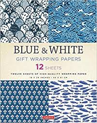 blue white gift wrapping papers 12 sheets of high quality 18 x