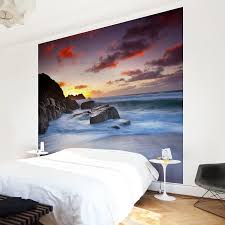 non woven wallpaper by the sea in cornwall mural square