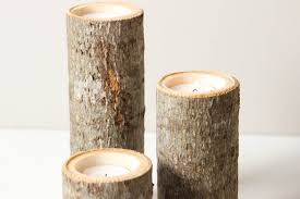 decorative candle holders candles wooden pillar home decor and