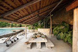 outdoor dining bamboo house mustique summer house decoration