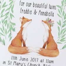 Invitation Card Christening Twins Christening Invitations By Christening Gifts From Rose