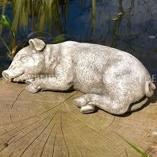 sleeping pig garden ornament