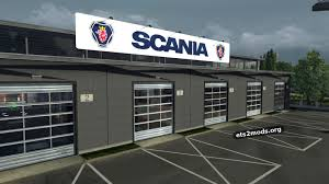 scania big garage mod ets2 mods this mod replaces all the large garages