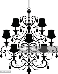 Black Chandelier Clip Art Silhouette Illustrations Of Assorted Chandeliers Candles And