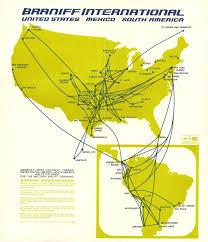 Carrier Route Maps by Braniff International Airways Braniff Airways