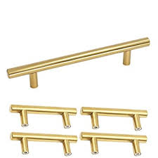 homdiy brushed brass cabinet handles 3 3 4 in hole centers kitchen