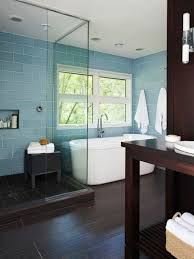 bedroom bathroom captivating tile with blue and black colors