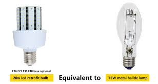 20w led retrofit bulbs equivalent to 75w metal halide lamps
