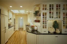 galley kitchen decorating ideas white modern galley kitchen decoration using white wood glass door