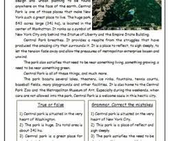 park reading worksheet