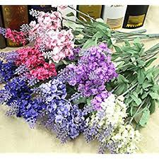 silk home artificial lavender silk flower for bouquets wedding