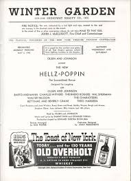 hellzapoppin playbill 5 6 40 hal sherman charles withers winter garden