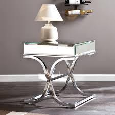 harper blvd annabelle chrome mirrored side end table free