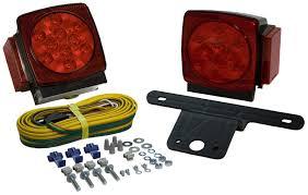 blazer led trailer lights blazer square submersible led trailer light kit pair blac7423