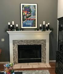 tile fireplace surrounds ideas polished grey brick stone around