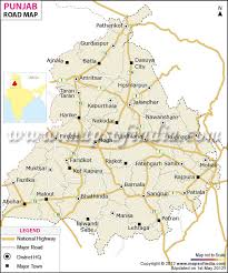 map in road punjab road network map