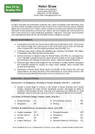 example of a resume objective cv examples uk and worldwide sample cv page 1