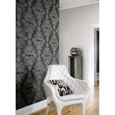 rasch diamond damask motif embossed pattern silver wallpaper 450439