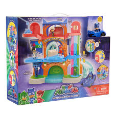 Kitchen Set Toys Box Amazon Com Just Play Pj Masks Headquarters Playset Toys U0026 Games
