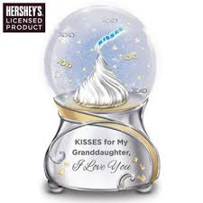 granddaughter gifts collectibles kisses for my granddaughter musical glitter globe