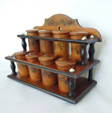 Kitchen Cabinet Door Spice Rack by Furniture Large Wooden Spice Rack With 30 Jars For Kitchen