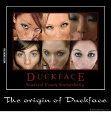 Meme Face Origins - duck face started from something the origin of duckface stuff