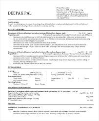 Software Engineer Resume Example Electrical Engineering Resume Template Free Word Pdf Document