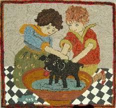 396 best hooked rugs images on pinterest penny rugs rug hooking