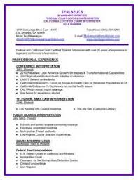 Spanish Interpreter Resume Sample by Resume Spanish Interpreter Resume For Cashier Job