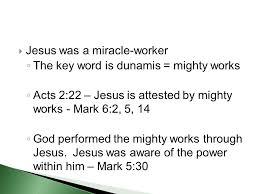 jesus u0027 miracles the source of jesus u0027 power the purpose of