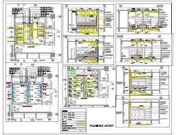 toilet plumbing design sanitary drainage water supply plan n