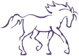 horse outline printable enfield cresting cake ideas