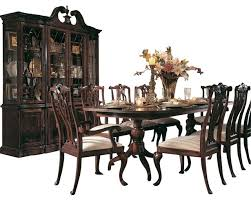 american drew cherry grove 8 piece dining room set in antique