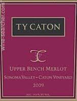 Vineyard Bench Ty Caton U0027caton Vineyard U0027 Upper Bench Merlot Sonoma Valley Usa