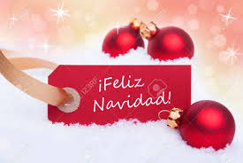 a tag with the words feliz navidad which means merry