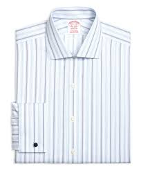 brooks brothers non iron madison fit hairline framed triple stripe