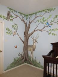 handpainted murals in houston mural artist in houston muralist tree and deer 008 jpg