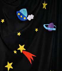 Outer Space Window Curtains by A Room In Outer Space U2026 U2013 The Green Dragonfly
