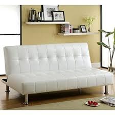 white leather futon sofa ingenious idea white leather futon sofa couch bed sleeper chaise