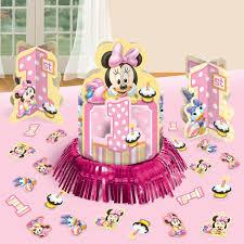 minnie mouse 1st birthday minnie s 1st birthday table decorating kit kitchen