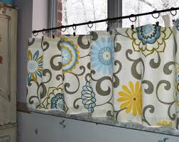 Gray Cafe Curtains Custom Curtains Etsy