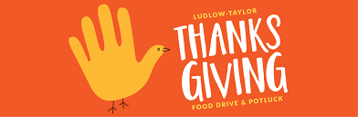 thanksgiving potluck food drive ludlow elementary school