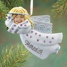 personalized birthstone ornaments personalized birthstone angel ornament christmas walter