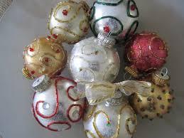 beaded glitter ornament