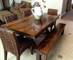 Dining Room Trestle Table James James 6 Foot Trestle Table With Apron Stained In Dark Walnut